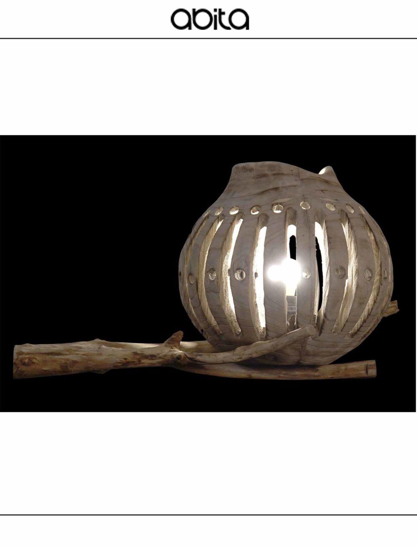 lampada in salice da tavolo