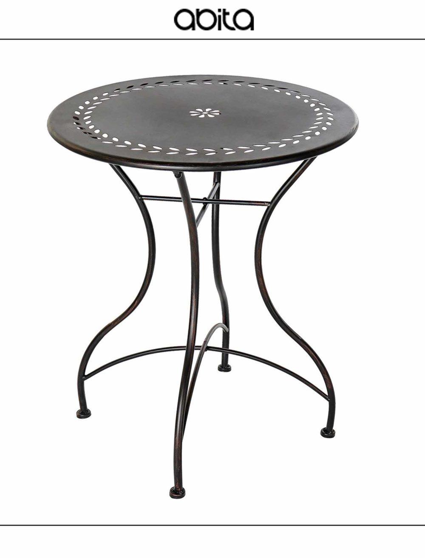 tavolo in metallo nero
