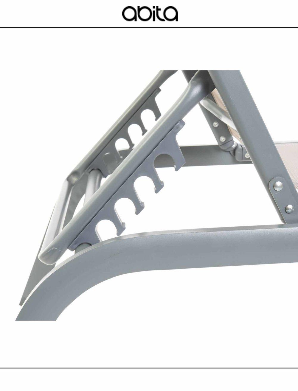 sdraio in alluminio e textilene