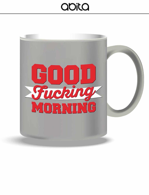 MUG GRIGIA GOOD FUKING MORNING