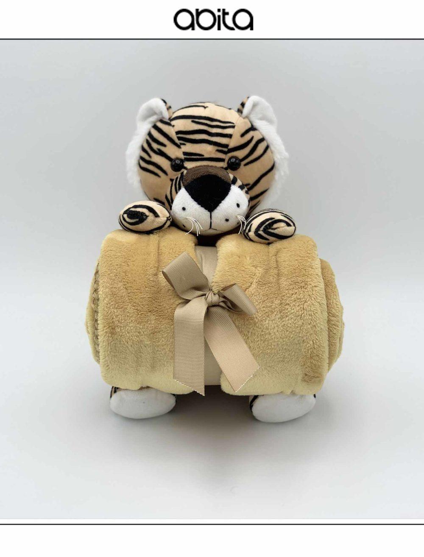 MADAGASCAR PELUCHE TIGRE CON PLAID 90X75